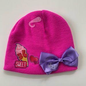 JoJo Siwa Pink Winter Bow Hat